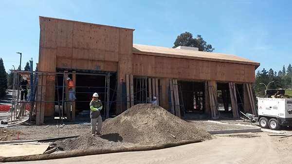 Starbucks under construction, Rossmoor Town Center, Walnut Creek, CA redevelopment