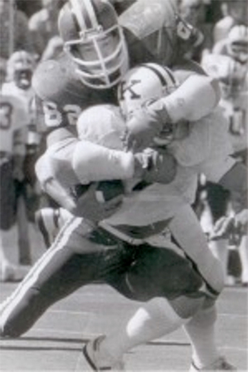 Terry Tallen playing football at Indian University