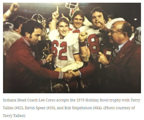 Indiana-Coach-Lee-Corso-accepts-1979-Holiday-Bowl-trophy